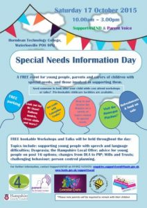 Special Needs Information Day 2015