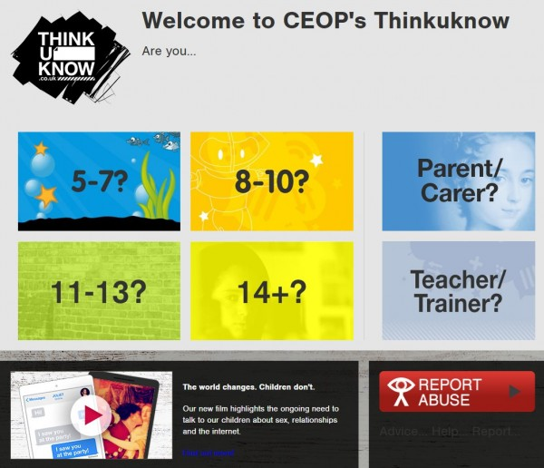 Think U Know website screenshot