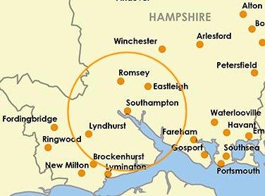 Map Southampton